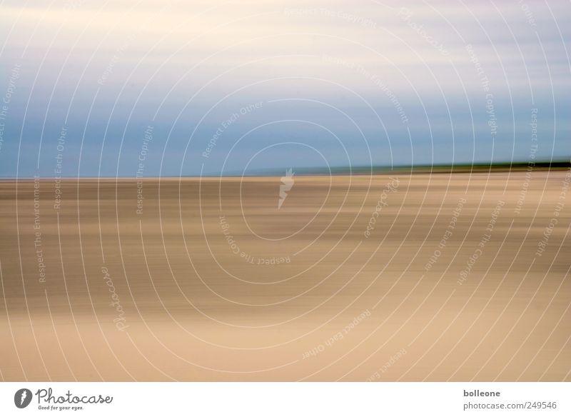 Wisch&Wech X Himmel Natur blau Sommer Ferien & Urlaub & Reisen Strand Wolken ruhig Einsamkeit Ferne gelb Freiheit Umwelt Landschaft braun Erde