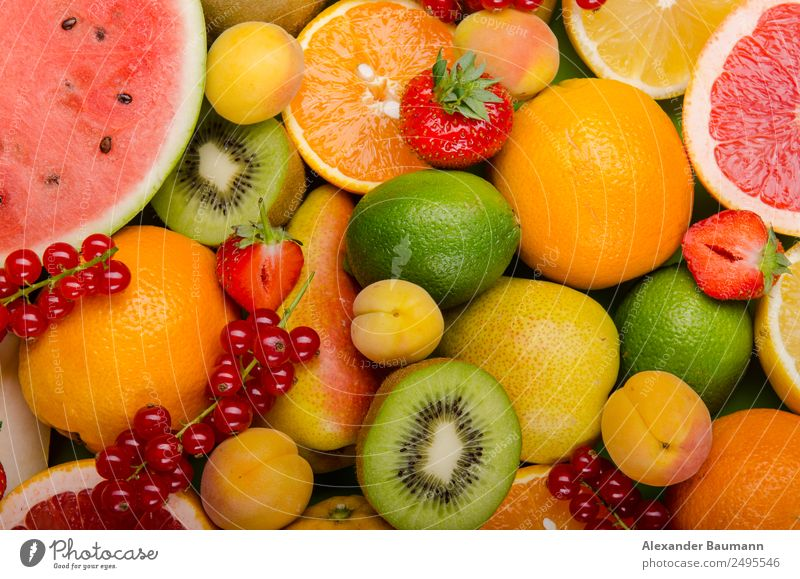 bunch of fruits Lebensmittel Frucht Orange Ernährung Bioprodukte Vegetarische Ernährung Diät Fasten exotisch Gesundheit Gesunde Ernährung Übergewicht Wellness