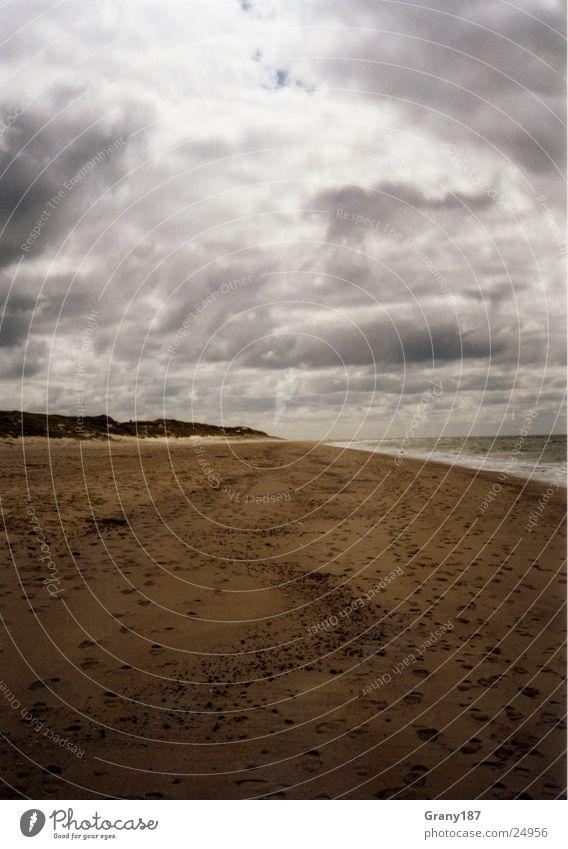 Endless Natur Himmel Strand Ferien & Urlaub & Reisen Wolken Herbst Sand Wetter groß Plakat Sylt Textfreiraum Werbefachmann