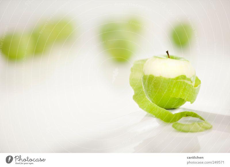 apples ende weiß grün Lebensmittel Gesundheit Frucht frisch Apfel lecker Hülle häuten