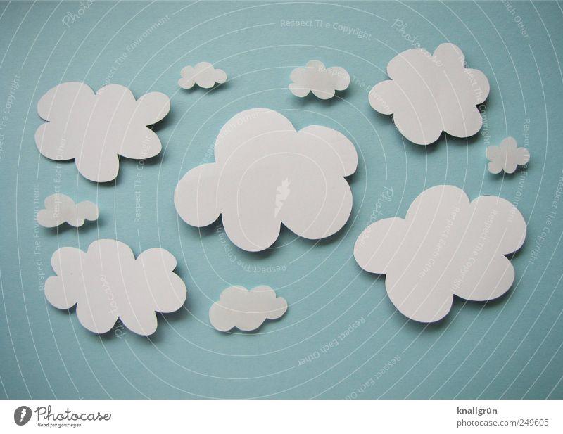 Über den Wolken Himmel weiß blau Wolken Umwelt Luft hoch Papier falsch Blauer Himmel Wolkenhimmel Altokumulus floccus gebastelt