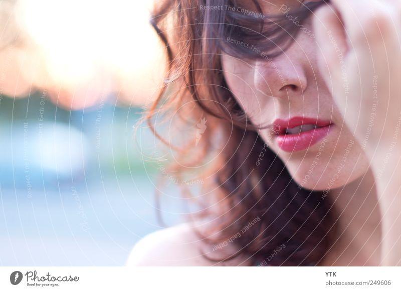 Nichts sehen.... Mensch Frau Jugendliche Hand schön Gesicht Erwachsene Gefühle Haare & Frisuren Stimmung Mund maskulin ästhetisch authentisch Lifestyle 18-30 Jahre