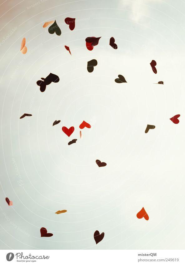 Summer of Love. rot Liebe Gefühle Kunst Wind fliegen Herz Design ästhetisch viele Kreativität fallen wehen Liebeskummer Leben himmlisch