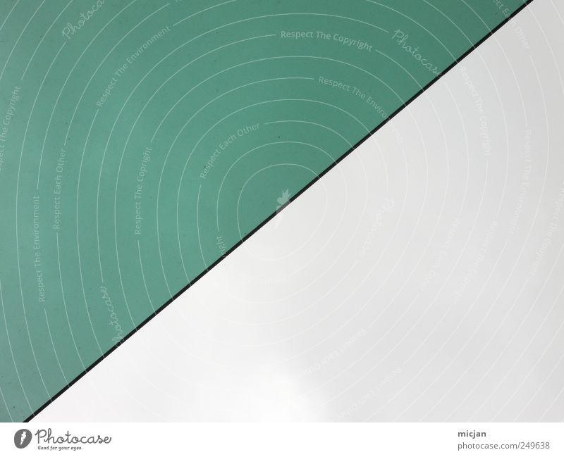 Silence | I wonder if you're listening Himmel grün Farbe grau Linie Hälfte aufsteigen Börse geradeaus
