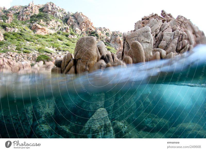 costa paradiso Natur Wasser Sommer Ferien & Urlaub & Reisen Meer kalt Freiheit Landschaft Küste Luft Wellen Felsen Schwimmen & Baden Insel Hügel tauchen