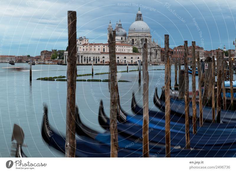 parken Ferien & Urlaub & Reisen Sightseeing Städtereise Sommerurlaub Wolken Gewitterwolken Meer Bucht Venedig Italien Europa Stadt Altstadt Kirche Bauwerk
