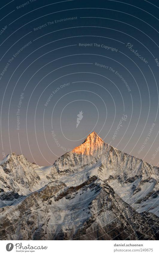 der frühe Vogel... Himmel Natur Ferien & Urlaub & Reisen Ferne Schnee Berge u. Gebirge Umwelt Eis wandern Abenteuer Tourismus Frost Alpen Schweiz Gipfel