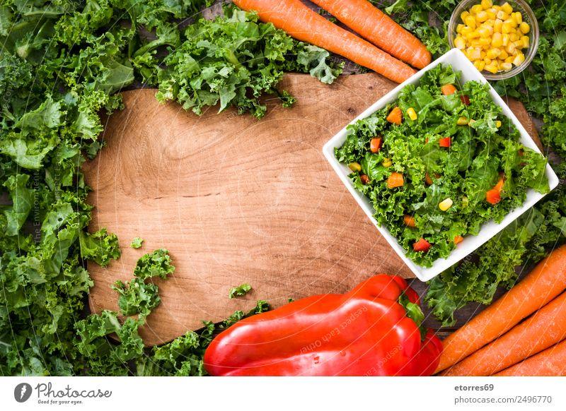 grün rot gelb Gesundheit Gesundheitswesen Lebensmittel Textfreiraum orange Ernährung Gemüse gut Bioprodukte Mitte Schalen & Schüsseln Diät