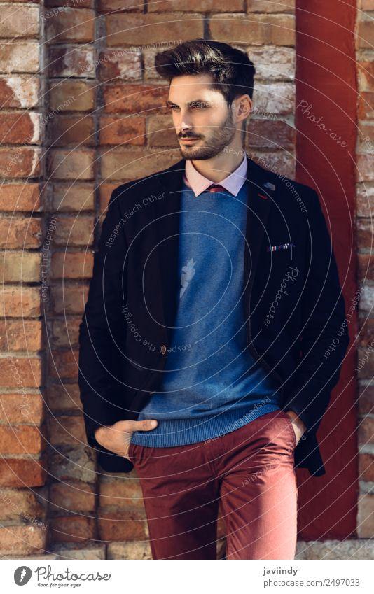 Mensch Jugendliche Mann schön Junger Mann weiß 18-30 Jahre Straße Erwachsene Lifestyle Stil Business Mode Haare & Frisuren maskulin modern