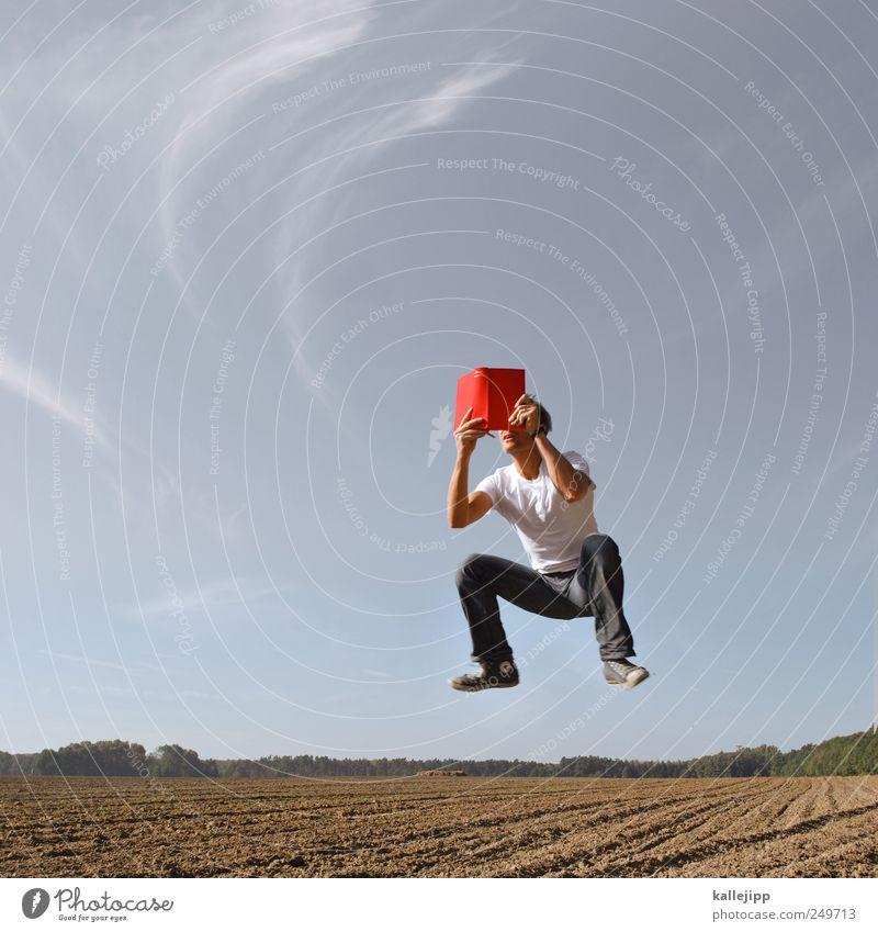 erdkunde Bildung Studium lernen Landwirtschaft Forstwirtschaft Mensch Mann Erwachsene Leben 1 Umwelt Natur Landschaft Erde Sand Feld springen Buch Erzählung rot