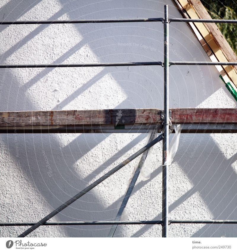Frühstückspause Wand Holz Mauer ästhetisch Sicherheit Baustelle Dach Vergänglichkeit Kunststoff Geländer diagonal Dienstleistungsgewerbe parallel anstrengen