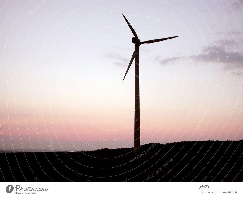 Das Rad Himmel Wissenschaften Windkraftanlage Abenddämmerung