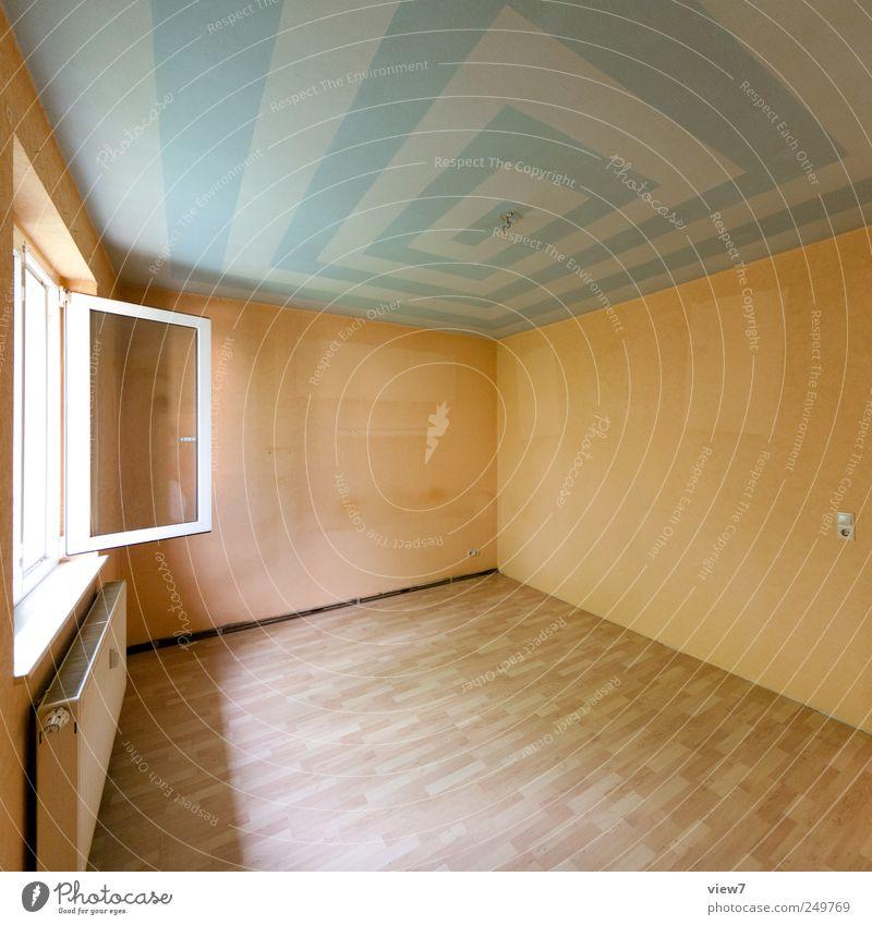 Mieter:: Renovieren Umzug (Wohnungswechsel) einrichten Innenarchitektur Dekoration & Verzierung Raum Haus Mauer Wand Fenster Stein Beton Linie Streifen alt
