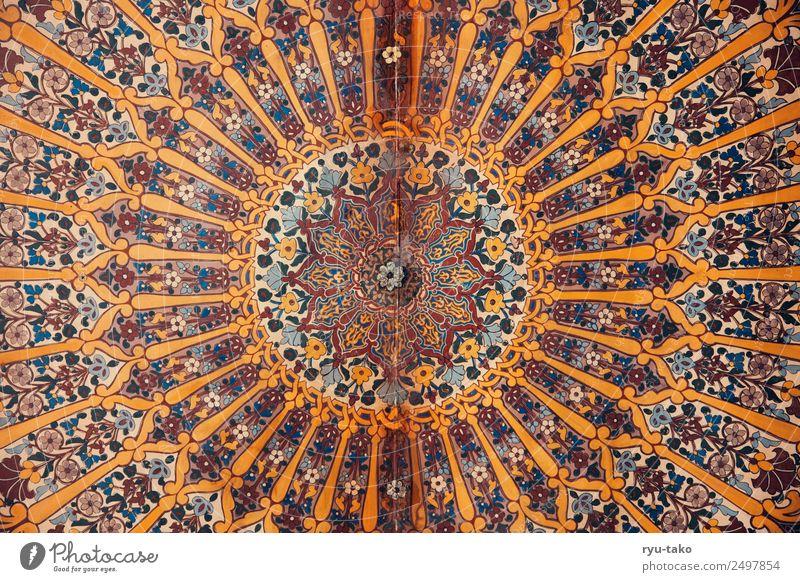 Schon ausgemalt Marokko Kirche Palast Sehenswürdigkeit Denkmal schön Wärme Strukturen & Formen Muster mehrfarbig Decke fleißig Rosette Naher und Mittlerer Osten