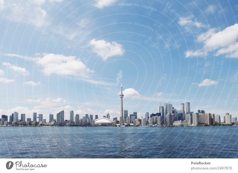 #A# Big Toronto Stadt ästhetisch Großstadt Skyline Kanada Tourismus Städtereise See modern Moderne Architektur Farbfoto mehrfarbig Außenaufnahme Menschenleer