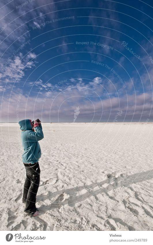 Spiekeroog | ...sky-catcher Mensch Himmel Natur Strand Wolken Landschaft Sand Insel Nordsee entdecken Fotograf Fotografieren