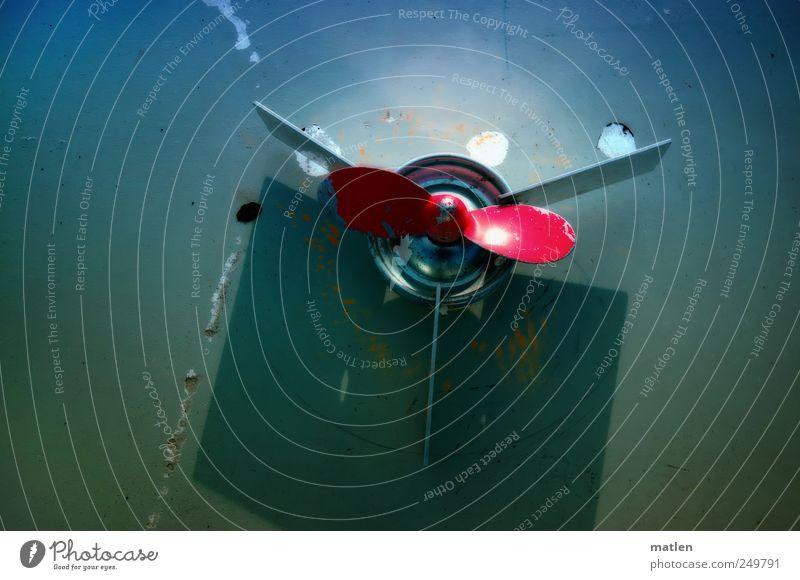 propeller drive Basteln Zeitmaschine Technik & Technologie High-Tech Metall Geschwindigkeit rotieren Aluminium Schraube Drehung unrund Kratzspur Farbfoto