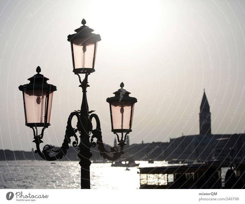 shining city. Stadt Meer hell Kunst Beleuchtung Tourismus ästhetisch Kultur Italien Laterne erleuchten Sehenswürdigkeit Venedig Fähre Barock Laternenpfahl