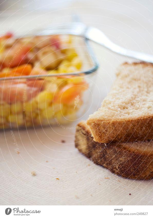 karge Mahlzeit Gesundheit Ernährung Gemüse Brot Abendessen Schalen & Schüsseln Mittagessen Salat Salatbeilage Gabel Vegetarische Ernährung Krümel Lebensmittel Besteck Brotscheibe