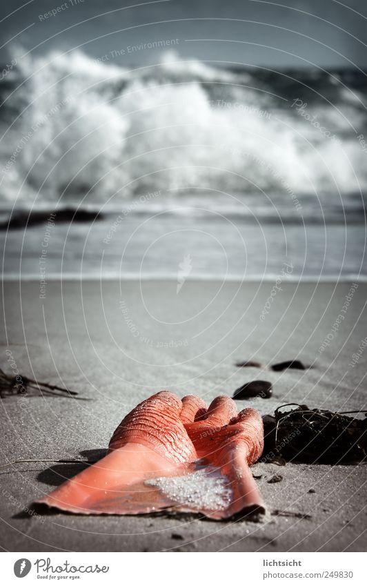 Die große Waschmaschine Wasser Meer Strand dunkel Umwelt Sand Küste orange Wetter Wellen Insel Reinigen Nordsee Sturm bizarr Ostsee