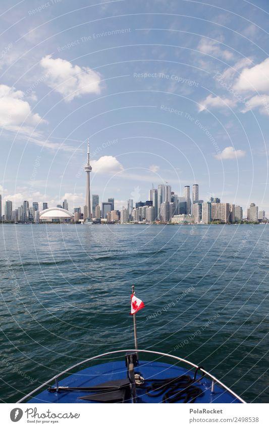 #A# Auf nach Toronto Skyline Abenteuer Toronto Congress Center Kanada Schifffahrt Meer See Tourismus Sightseeing Fernweh Fahne Ferien & Urlaub & Reisen