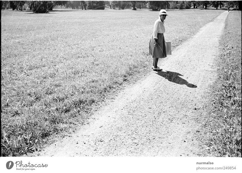 junger Mann . . . Mensch Frau alt Sommer Erwachsene Wiese Leben Gefühle Senior Wege & Pfade Stimmung Park Kunst laufen natürlich wandern