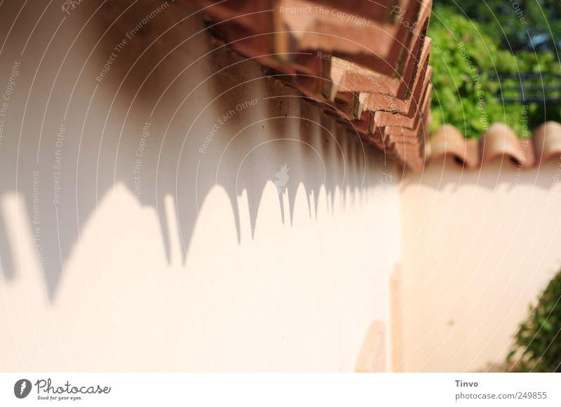 Hacienda Traumhaus Mauer Wand Fassade Dachziegel Ferien & Urlaub & Reisen Häusliches Leben Terrakotta lachsfarben Süden Spanien Italien gezackt Lifestyle Flair