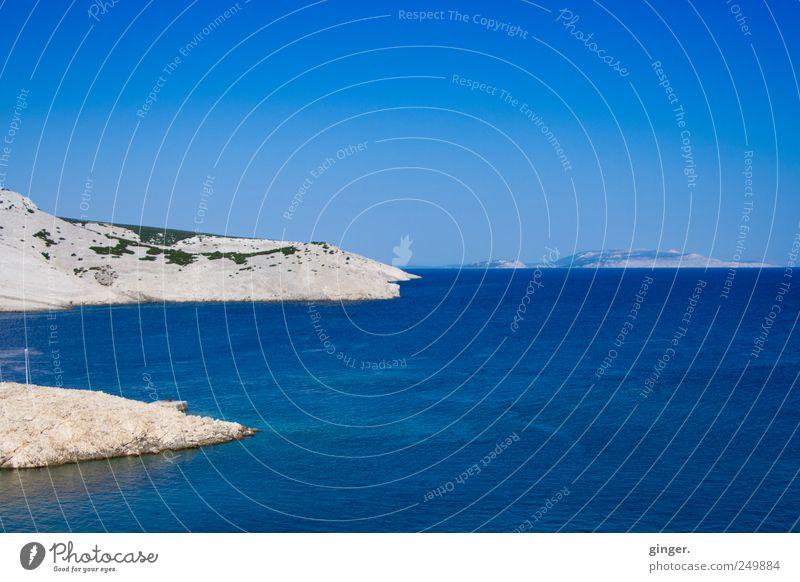 Ins Meer züngeln Himmel Natur Wasser blau schön Sommer Ferien & Urlaub & Reisen Ferne Umwelt Landschaft Sand Küste Wellen Horizont Insel