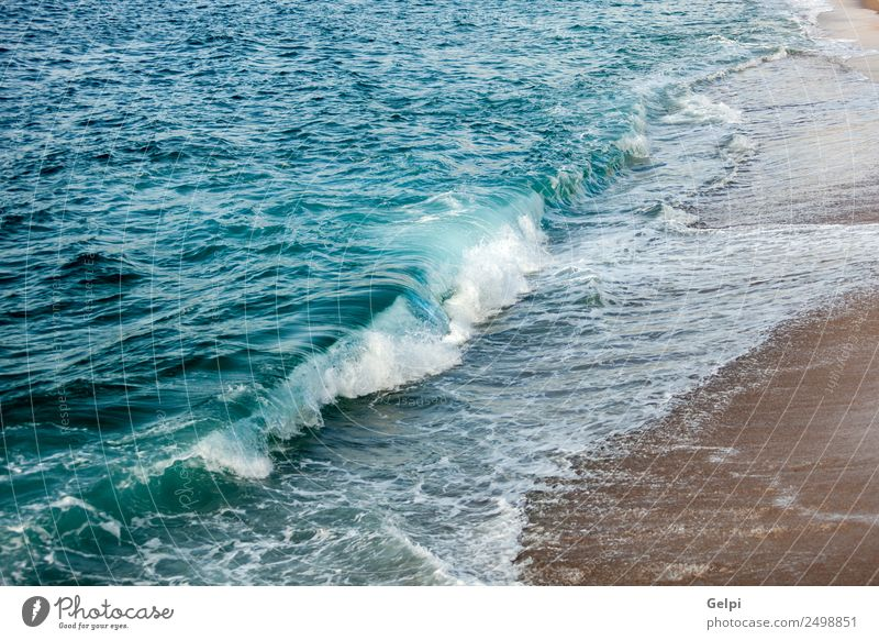 Natur Ferien & Urlaub & Reisen Sommer blau Sonne weiß Meer Erholung Strand gelb natürlich Küste Tourismus Sand Horizont Wetter
