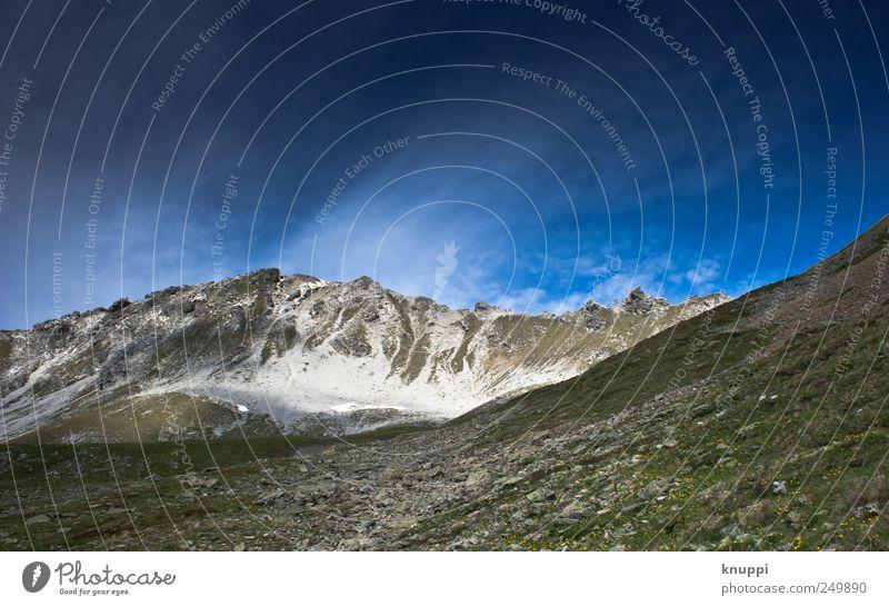 2200 m.ü.M Umwelt Natur Landschaft Urelemente Himmel Wolkenloser Himmel Sonnenlicht Sommer Schönes Wetter Wind Sturm Gras Alpen Berge u. Gebirge Gipfel Davos