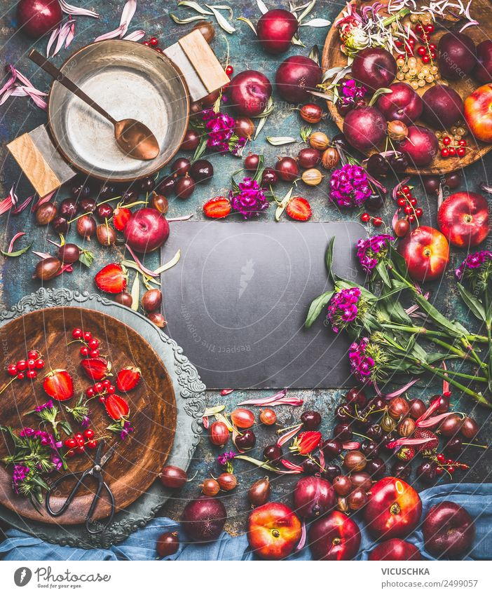 Sommer Beeren background Lebensmittel Frucht Marmelade Ernährung Frühstück Bioprodukte Vegetarische Ernährung Diät Geschirr Teller Schalen & Schüsseln Topf