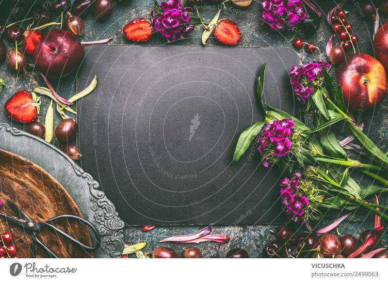 Hintergrund mit Sommerobst und Beeren Lebensmittel Frucht Ernährung Bioprodukte Stil Design Gesundheit Gesunde Ernährung Stillleben Hintergrundbild Pflaume