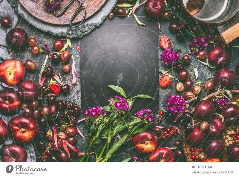 Sommer Obst und Beeren auf dem Tisch Lebensmittel Frucht Ernährung Bioprodukte Geschirr Stil Design Gesundheit Gesunde Ernährung Häusliches Leben Küche