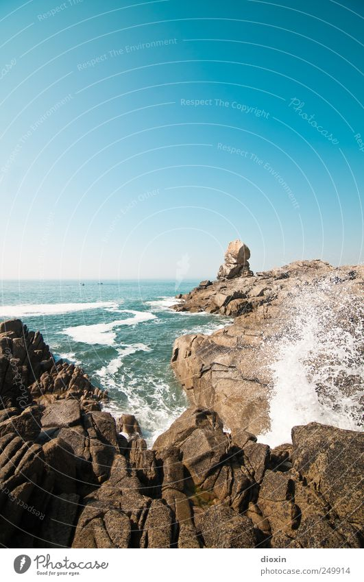 Océan Atlantique -3- Himmel Natur Sommer Ferien & Urlaub & Reisen Meer Ferne kalt Freiheit Bewegung Küste Wellen Kraft Ausflug nass Felsen Abenteuer