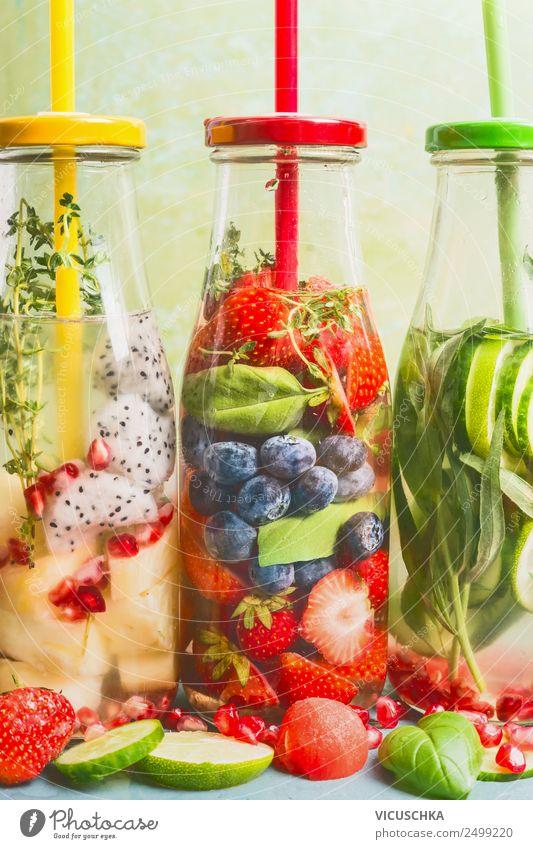 Infused Water Auswahl Getränk Erfrischungsgetränk Trinkwasser Limonade Stil Design Gesundheit Gesundheitswesen Gesunde Ernährung Fitness Sommer Wasser
