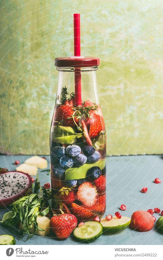 Wasser mit Geschmack zu versetzen Lebensmittel Frucht Ernährung Bioprodukte Vegetarische Ernährung Diät Getränk Erfrischungsgetränk Trinkwasser Saft Flasche