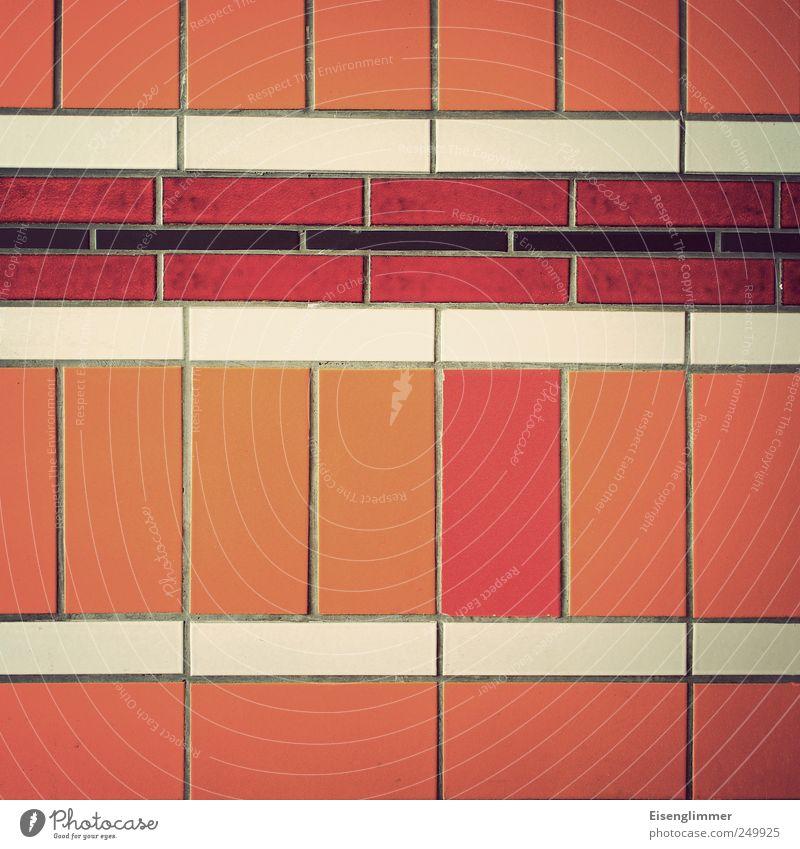 Fehlfarbe weiß rot schwarz gelb Zufriedenheit retro einzigartig Fliesen u. Kacheln Zusammenhalt Symmetrie Identität komplex Konkurrenz standhaft rebellieren