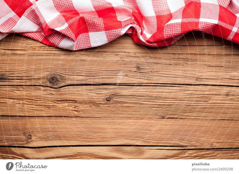 Tischlein deck dich rot kariert Häusliches Leben Wohnung Dekoration & Verzierung Möbel Schreibtisch Küche Restaurant Essen trinken Oktoberfest alt rustikal Holz