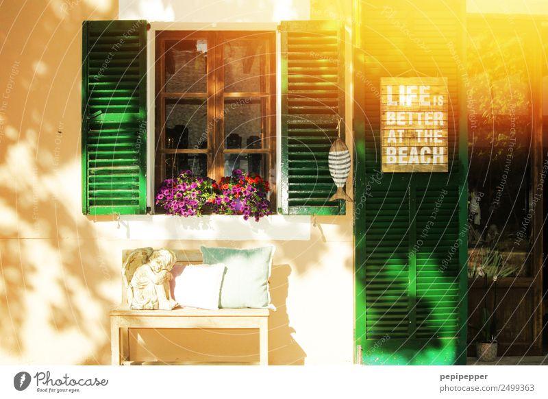 LIFE IS BETTER AT THE BEACH Glück harmonisch Wohlgefühl Freizeit & Hobby Ferien & Urlaub & Reisen Tourismus Häusliches Leben Wohnung Haus