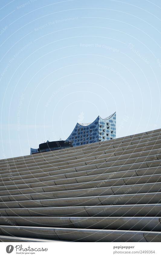 Elbphilharmonie elegant Tourismus Sightseeing Städtereise Konzerthaus Dienstleistungsgewerbe Architektur Theater Musik Oper Opernhaus Hamburg Hafenstadt Haus