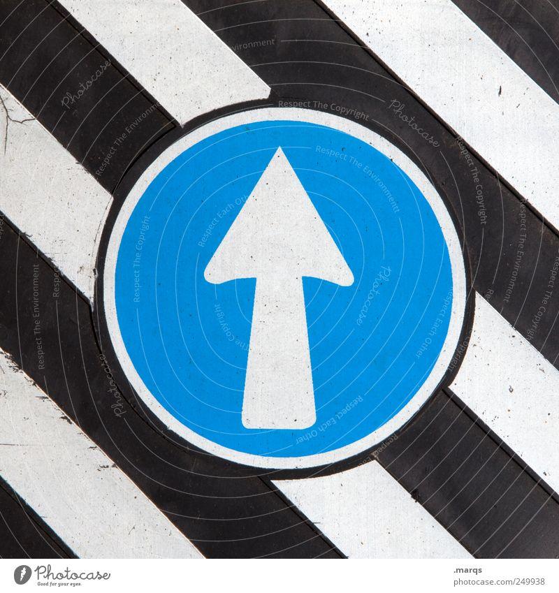 Los blau weiß schwarz Stil Wege & Pfade Linie Arbeit & Erwerbstätigkeit Schilder & Markierungen Design Beginn Verkehr Wachstum Zukunft Streifen fahren Ziel