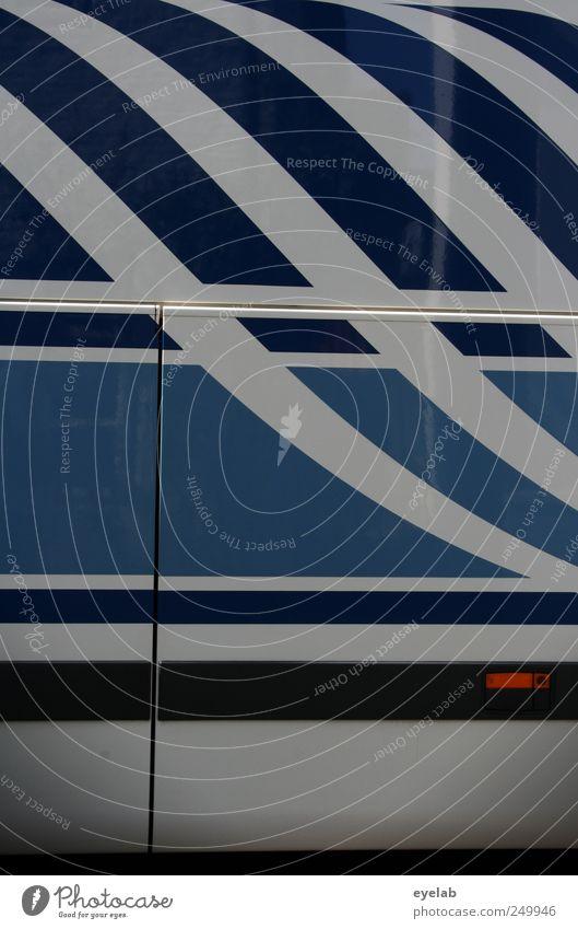 Parallelität weiß blau Metall Linie elegant Design Verkehr Streifen Technik & Technologie Dekoration & Verzierung Sauberkeit Kitsch Reisefotografie Zeichen