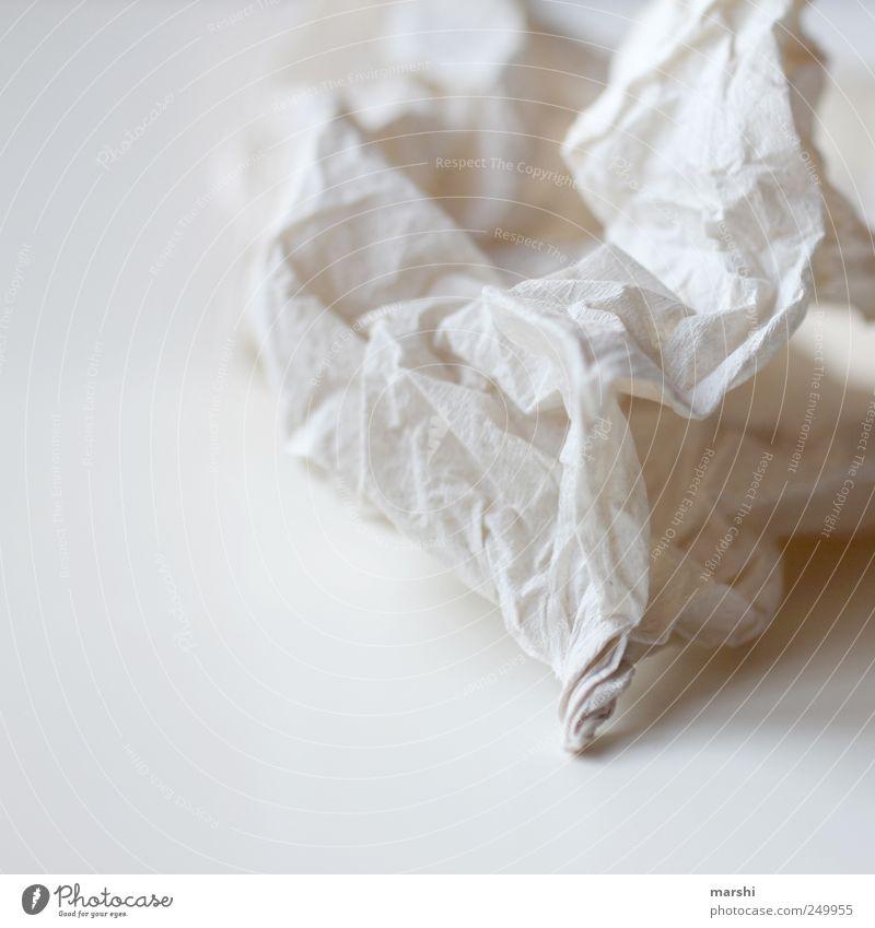 Tränen-Trockner Traurigkeit Papier Falte Zeichen Sorge Taschentuch