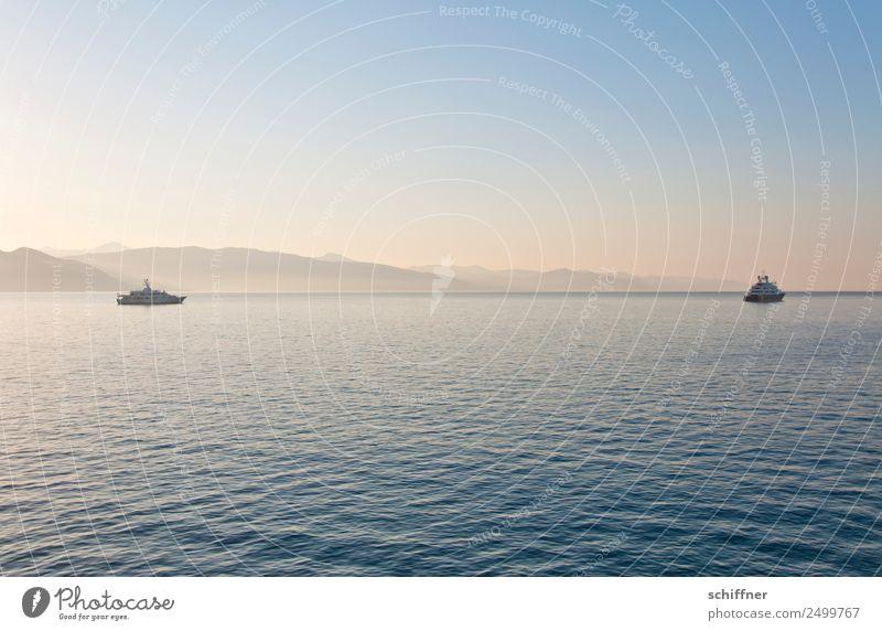 Lady Beatrice und Freund Ferien & Urlaub & Reisen Sommer Landschaft Meer ruhig Küste paarweise Schönes Wetter Italien Bucht Kitsch Schifffahrt Reichtum Jacht