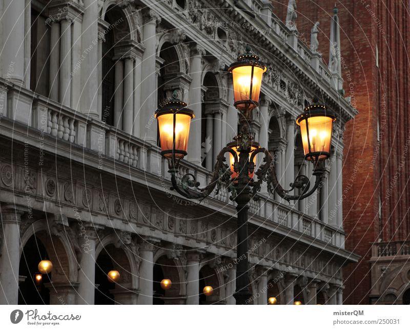 Laterne. Stadt Ferien & Urlaub & Reisen Stil Beleuchtung Tourismus Kultur Italien Reichtum edel Sehenswürdigkeit Venedig Barock Laternenpfahl Königlich