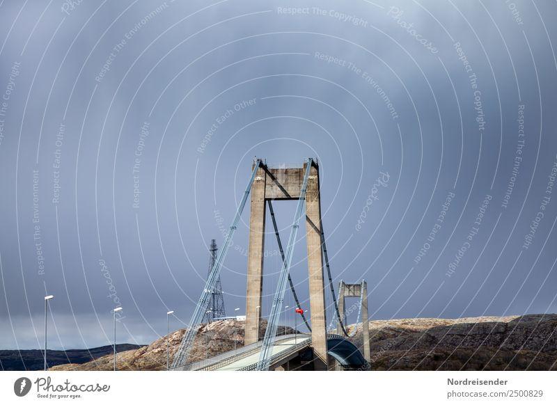 Grenzüberschreitung | Brücken bauen Ferien & Urlaub & Reisen Güterverkehr & Logistik Natur Landschaft schlechtes Wetter Unwetter Sturm Regen Gewitter Küste