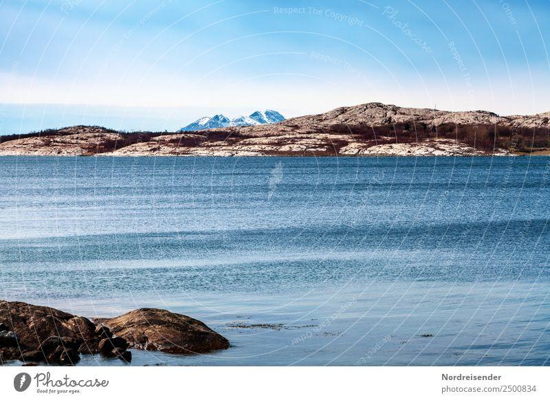 Nordeuropa Ferien & Urlaub & Reisen Abenteuer Ferne Meer Insel Berge u. Gebirge Natur Landschaft Urelemente Wasser Klima Schönes Wetter Gipfel