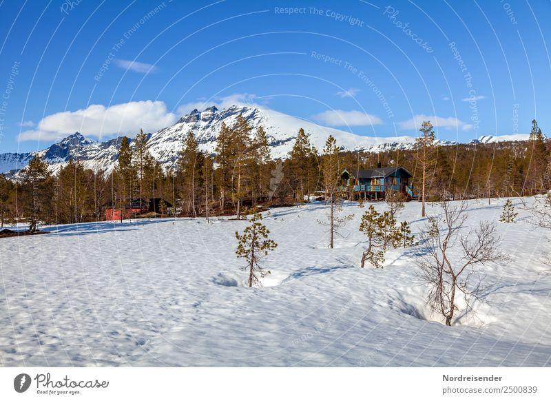 Ferienhäuser in den Bergen Ferien & Urlaub & Reisen Tourismus Ausflug Winter Schnee Winterurlaub Natur Landschaft Himmel Wolken Frühling Klima Schönes Wetter