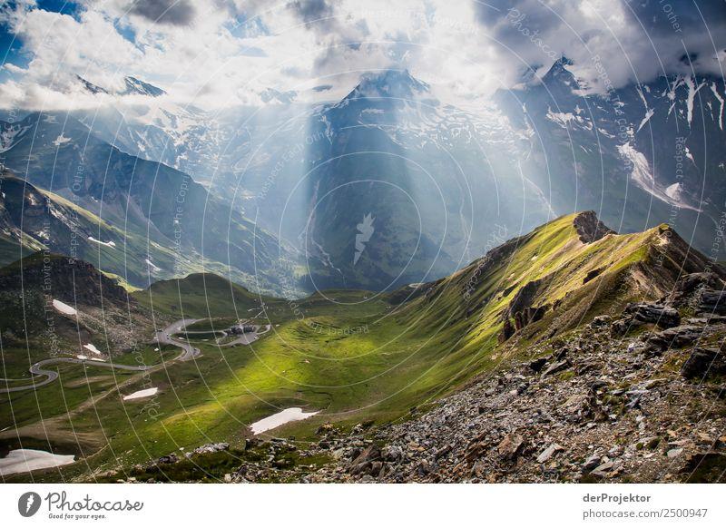 Panoramastrasse Großglockner wird erleuchtet Ferien & Urlaub & Reisen Tourismus Ausflug Abenteuer Ferne Freiheit Berge u. Gebirge wandern Umwelt Natur