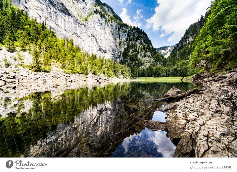 Spiegelung am Kammersee Himmel Natur Ferien & Urlaub & Reisen Sommer Berge u. Gebirge Leben Umwelt Glück Tourismus Freiheit außergewöhnlich See Felsen Ausflug